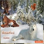 Красивая открытка с зимой