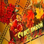 Яркая открытка с осенью