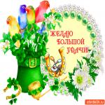 Желаю тебе большой удачи друг