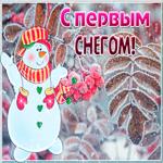 Живая открытка с первым снегом