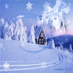 Зима открытка