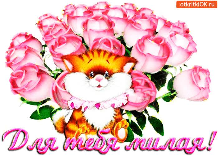 Поздравление днем, тебе моя милая открытки