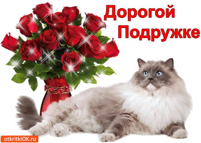 Фото открытки любимой подруге