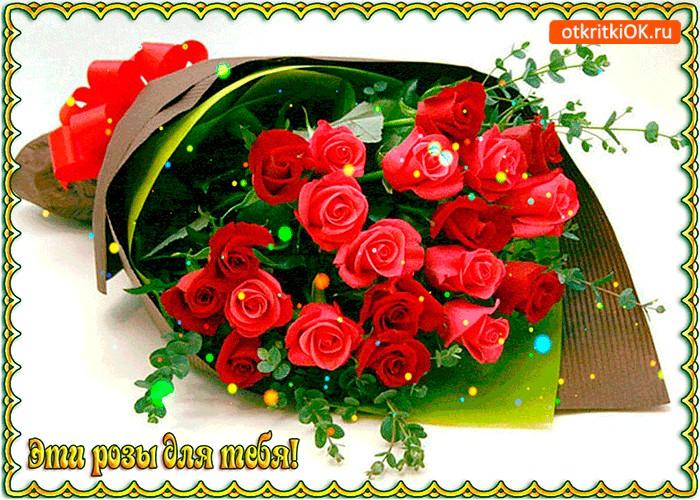 Картинка эти роза для тебя милая