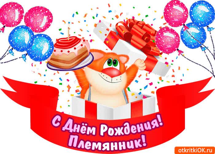 Картинка днем рождения племянник