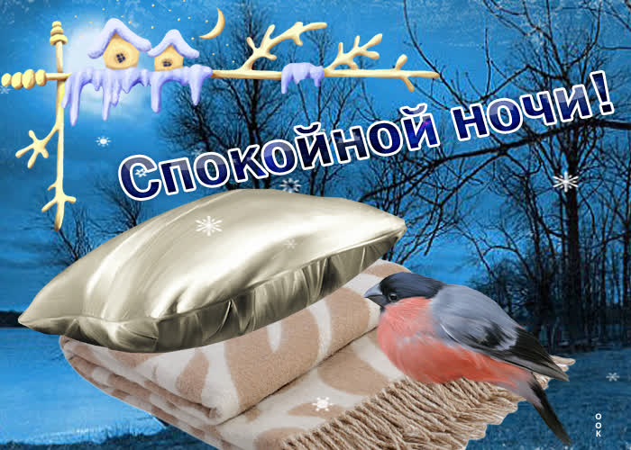 Открытка открытка спокойной ночи зимой