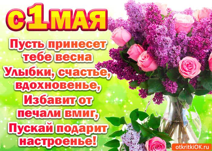 Поздравления подругу с 1 мая