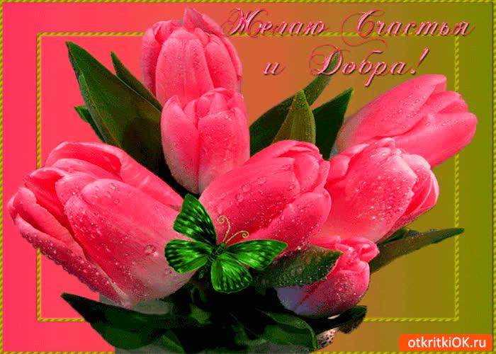 Мерцающие открытки с пожеланиями добра и счастья