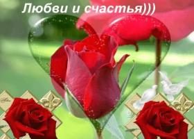 Открытка цветы счастье и любовь