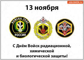 Картинка 13 ноября! с днём войск радиационной, химической и биологической защиты!