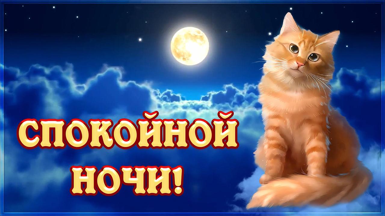 Открытка спокойной ночи и сладких снов! красивые пожелания с милым голосом!