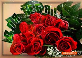 Картинка алые розы для тебя