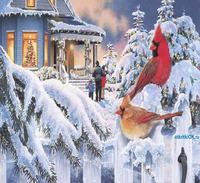 Открытка анимационная открытка зима