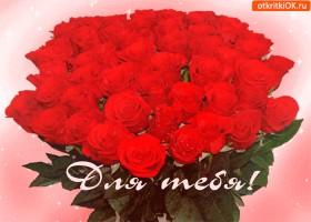 Картинка букет красных роз для тебя
