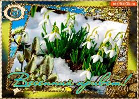 Открытка чистый весенний привет