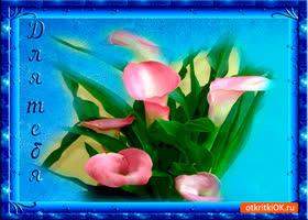 Открытка для тебя нежный букет весны