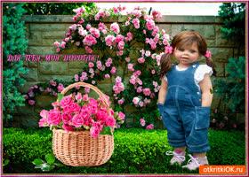 Картинка для тебя моя дорогая корзина цветов