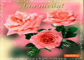 Картинка для тебя нежные розовые розы