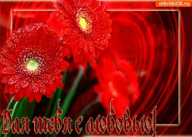 Открытка для тебя с любовью эти цветы