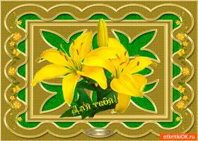 Картинка для тебя желтая лилия