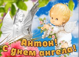 Картинка дорогой антон, с днём ангела