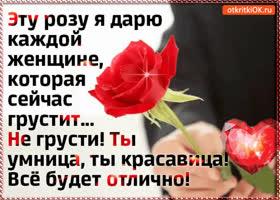 Картинка эту розу я дарю каждой