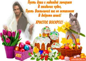 Картинка христос воскрес - пусть всевышний вас бережёт