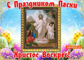 Открытка картинка христос воскрес