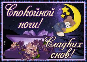 Открытка картинка спокойной милой ночи