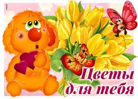Картинка картинка желтые тюльпаны