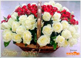 Картинка корзина цветов
