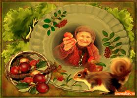 Открытка красивая открытка осени