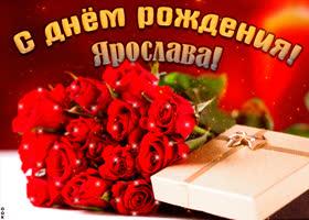 Открытка красивая открытка с днем рождения, ярослава