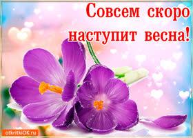 Открытка красивая открытка скоро весна