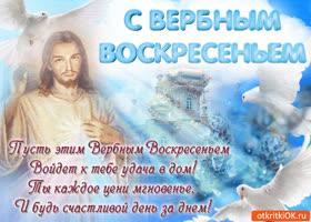 Картинка красивое поздравление с вербным воскресеньем
