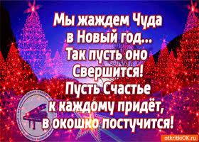 Открытка мы жаждем чуда в новый год