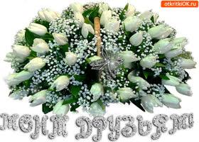 Открытка моим друзьям шикарная корзина цветов