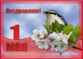 Открытка открытка 1 мая праздник весны и труда