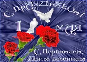 Картинка открытка с 1 мая фото