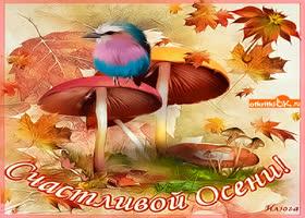 Открытка открытка счастливой осени