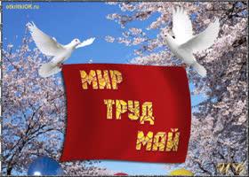 Открытка открытка советская 1 мая
