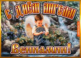 Открытка открытка день ангела вениамин