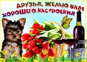 Картинка открытка для настроения друзьям