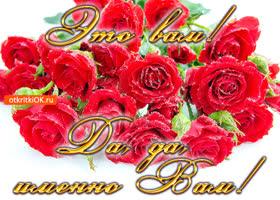 Открытка открытка красивый букет роз