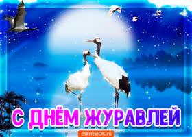 Открытка открытка поздравление с днём журавля