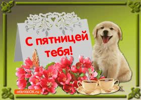 Открытка открытка поздравление с пятницей