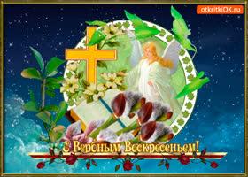 Открытка открытка поздравление с вербным воскресеньем