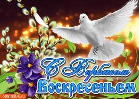 Картинка открытка с вербным воскресеньем