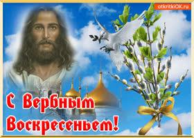 Открытка открытка с вербным воскресеньем