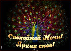 Открытка открытка спокойной ночи, ярких снов
